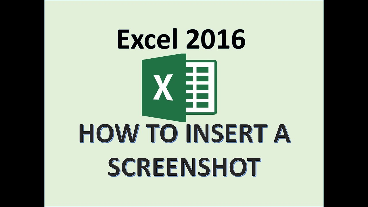 Excel 2016 Screenshot Tutorial How To Take Screen Shot In Ms Microsoft Office Print Snapshot Youtube
