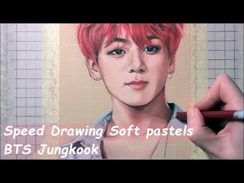 [speed-drawing]-soft-pastels---bts-jungkook/방탄소년단-정국