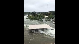 Incredible Flooding in Inks Lake near Burnet, Texas (Oct 17, 2018)