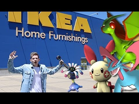 Catching Gen 3 Pokemon GO at IKEA!!