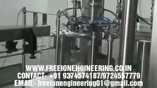 24bpm water bottle rinsing filling capping machine