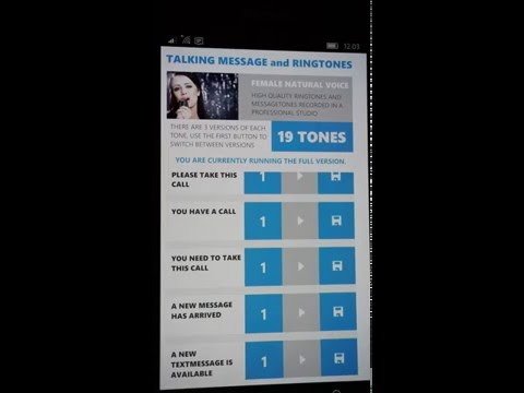 Talking Message and Ringtones App for Android and WP by byteNine