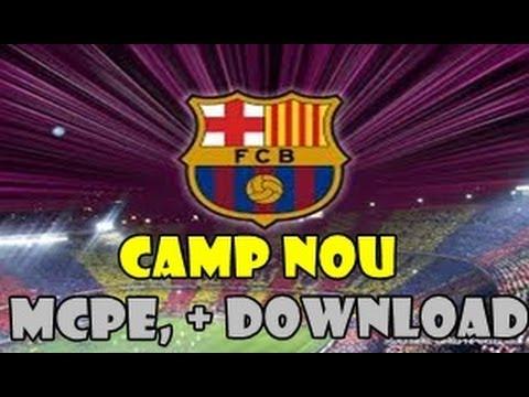Minecraft PE- Estadio Camp Nou + download