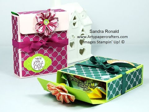 Pretty Gift Box for Holiday Treats - SandraR Stampin' Up! Demonstrator Independent