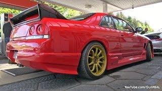 Nissan Skyline GT-R R33 V-Spec + Toyota Supra - Sound!
