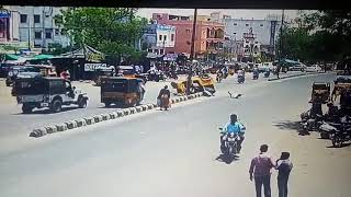 Accident in adilabad near busstand