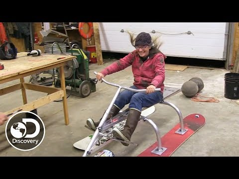 Building a Homemade 3-Ski Sled | Alaska: The Last Frontier