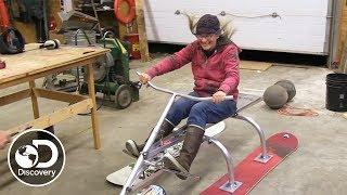 Building a Homemade 3-Ski Sled | Alaska: The Last Frontier