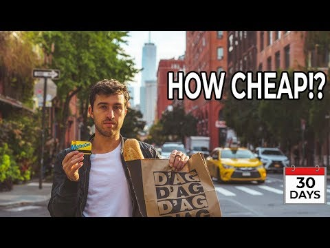 LIVING In NYC As CHEAP AS POSSIBLE  (30 Day Challenge)