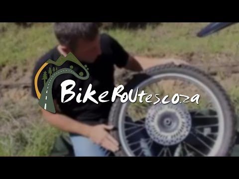 How to repair a puncture on a motorcycle's front tyre