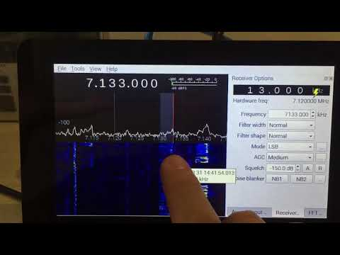 Airspy HF+ and Gqrx running on Raspberry Pi