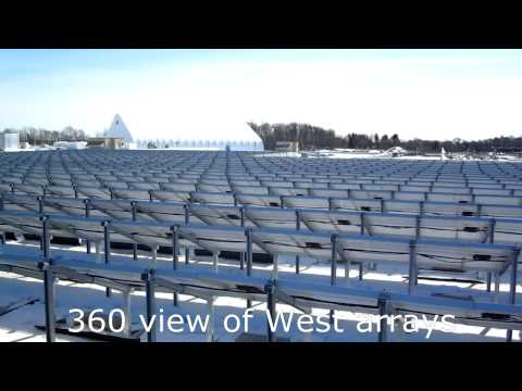 Photowatt Ontario 500kW PV array - City of Kitchener CMF.avi