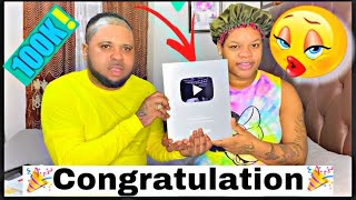 Finally we got our YouTube 100k silver button🎉🎉🎉🎊🎊🎊