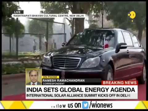 International Solar Alliance Summit: PM Modi welcomes heads of states