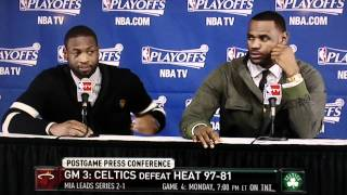 Lebron says that's retarded and Dwyane Wade Asked About Being dirty (original)