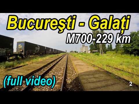 Bucuresti-Urziceni-Galati full rearview-Trainride-Zugfahrt