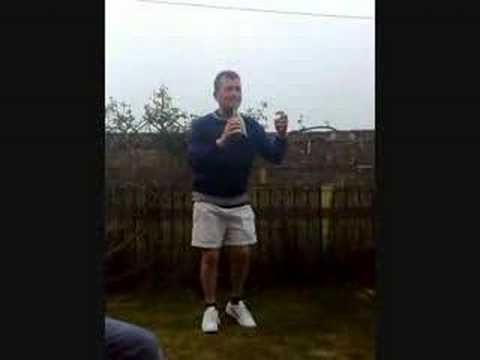 Chuck goes commando in his white shorts - YouTube