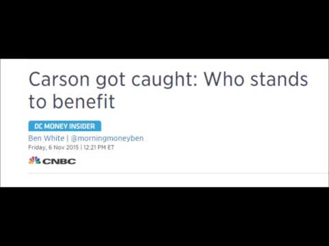 """Titillated CNBC cheers """"CARSON GOT CAUGHT!"""" about a human being much finer than they are (Limbaugh)"""