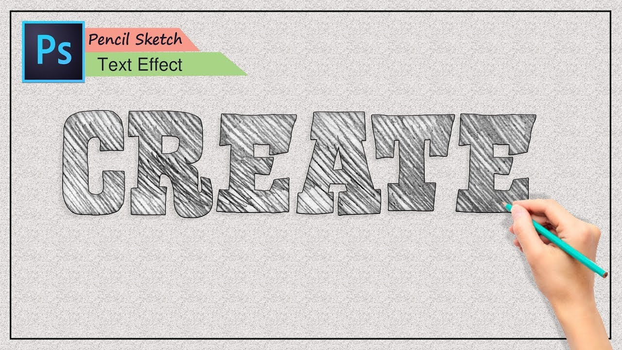 Create pencil sketch text effect easily in photoshop photoshop cc tutorial
