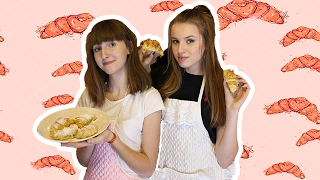 ROGALIKI Z NUTELLĄ?! - Wiki i Madzia w kuchni! #3   VictoriaBarbae