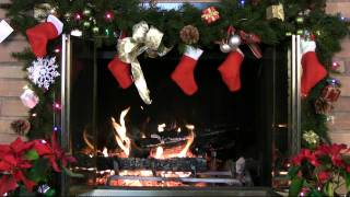 ♥♥ 1 Hour Christmas Holiday Yule Log Fireplace (in HD)