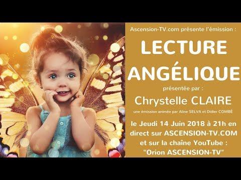 """[BANDE-ANNONCE] 2ème émission : """"La Lecture Angélique"""" avec Chrystelle CLAIRE le 14/06/2018 à 21h"""