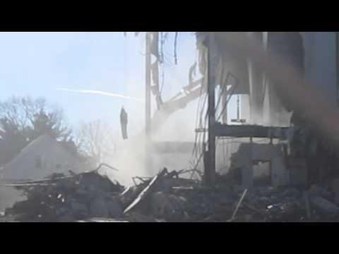 Demolition at St. Joseph Church in Salem, Mass.