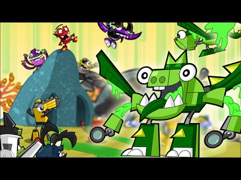 Mixels Rush: Series 6 Glorp Corp Max Land ALL levels - Cartoon Network Games