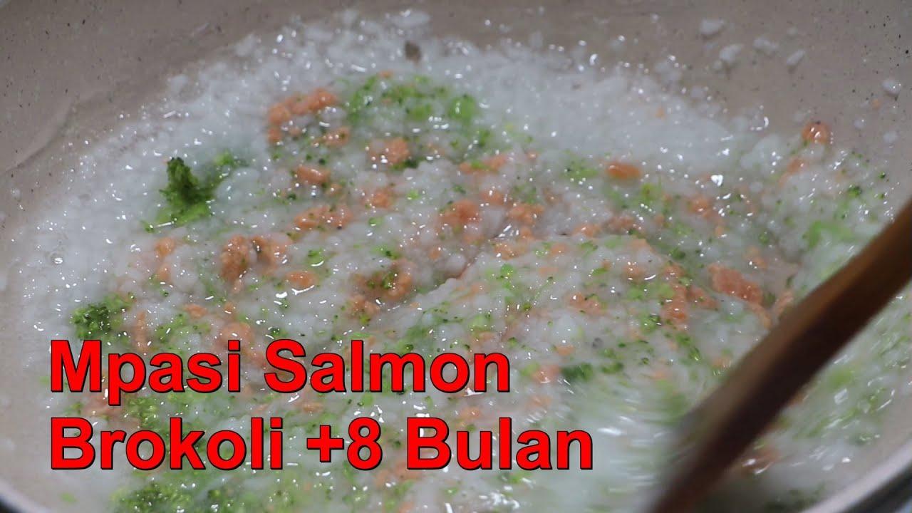 Mpasi Ikan Salmon Brokoli 8 Bulan Youtube