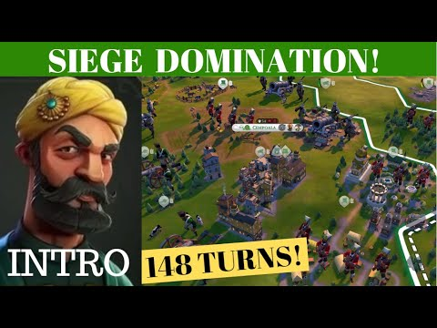 Intro - Siege Domination with Ibrahim (Small Pangea Map) - Deity (Ottomans) - Civ 6 |