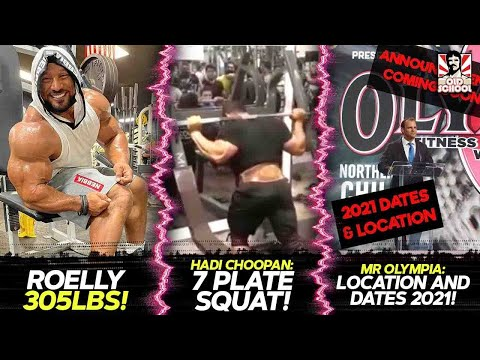 Roelly Winklaar 305LBS! + Hadi Choopan Squats 7 Plates + Olympia Announcement - Date & Location 2021