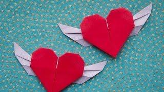 Hướng dẫn cách gấp TRÁI TIM CÓ CÁNH - chấp cánh cho tình yêu của bạn