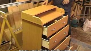 Своими руками пеленальный комод и столик: пошаговая инструкция сборки (видео)