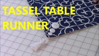 Gambar cover How To Sew A Tassel Onto A Table Runner