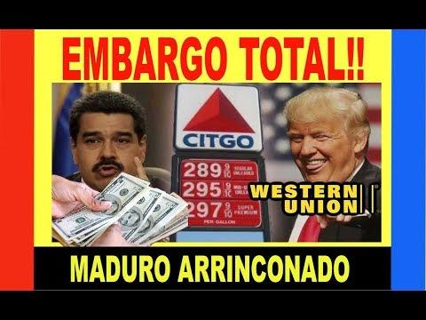EE.UU. embargo total Venezuela★ REMESAS WESTER Union★Transacciones $$. Igual Corea, Irán Siria Cuba★