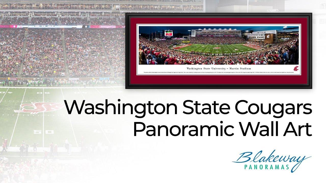 Inc Panoramic Poster or Framed Picture Blakeway Worldwide Panoramas Washington State Football