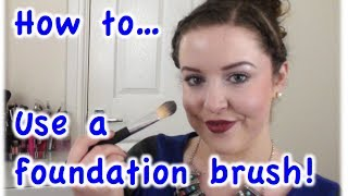 How to use a foundation brush to apply foundation! Thumbnail