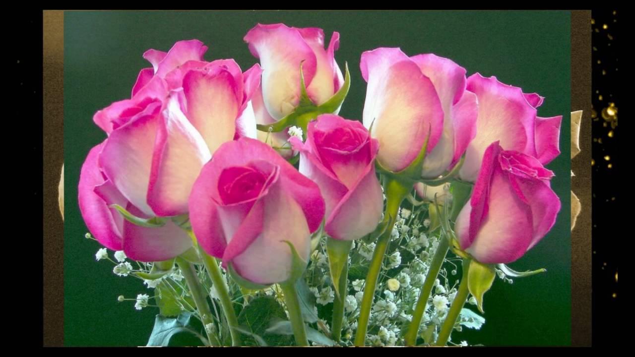 Красивая открытка с днем рождения дочери с цветами