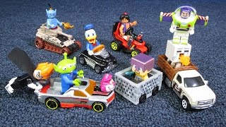 Lego Disney Minifigures Unboxing and Hot Wheels Ride-Ons Cars
