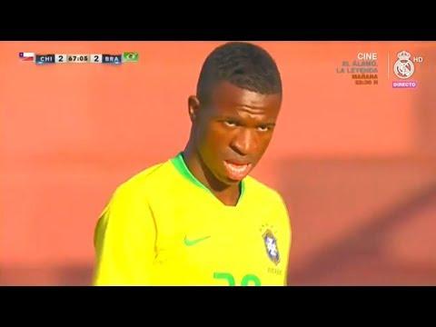 Vinicius Jr vs Chile U-20 | Every Touch | 15/10/2018