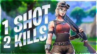 1 SHOT, 2 KILLS!! TWITCH HIGHLIGHTS - Fortnite
