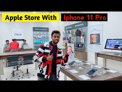 Apple store with iphone 11 pro ...