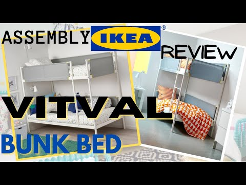 Bunk Bed For Children S Bedroom Ikea Vitval Bunk Bed Installation Tutorial Easy Diy Bunk Bed Youtube