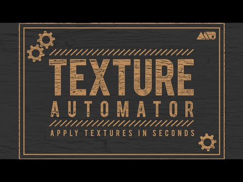 Texture Automator Photoshop Action Promotional Video