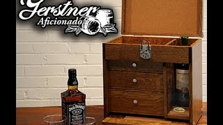 Gerstner & Sons - 1403 The Aficionado's   Cigar And Spirits Travel Cabinet