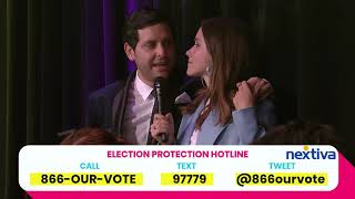 Russian Juggler phone bank with Sophia Bush J Chris Newberg