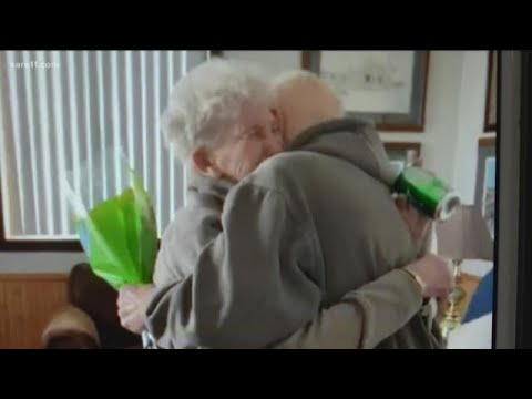 Husband released from nursing home surprises wife on 84th birthday