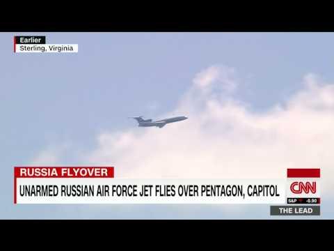 Unarmed Russian jet flies over US Capitol, Pentagon