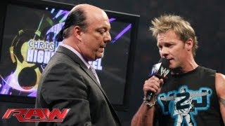 "During the ""Highlight Reel,"" Chris Jericho challenges CM Punk to a match at Payback: Raw, May 27, 20"