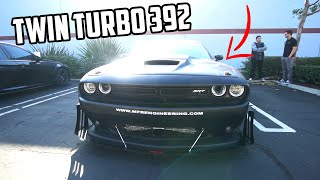 TWIN TURBO CHALLENGER SRT 392 CUSTOM REAR MOUNTED!!